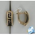 Золотые серьги с каучуком