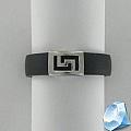 Кольцо из каучука с серебром