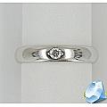 Серебряное обручальное кольцо с цирконием