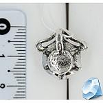 Серебряная подвеска с жемчугом и фианитами