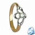 """Золотое кольцо с бриллиантом """"Corona"""""""