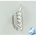 Серебряная серьга с зажимом
