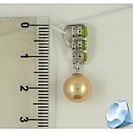 Серебряная подвеска с жемчугом и хризолитами
