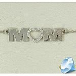 Серебряное колье Мама