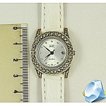 Серебряные часы с марказитами