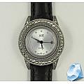 Серебряные наручные часы с марказитами