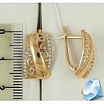Ажурные золотые серьги