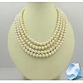 Ожерелье из белого круглого речного жемчуга