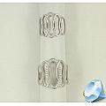 Двойное кольцо из белого золота