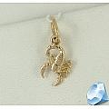 Золотая подвеска Скорпион