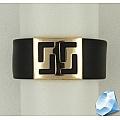 Широкое кольцо из каучука с золотом