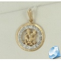 Золотая подвеска «Знак зодиака Близнецы»