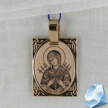 """Золотая икона Божией Матери """"Семистрельная"""""""