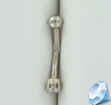 Золотой пирсинг для пупка с бриллиантом