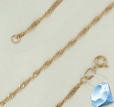 Браслет из золота с плетением «Сингапур»